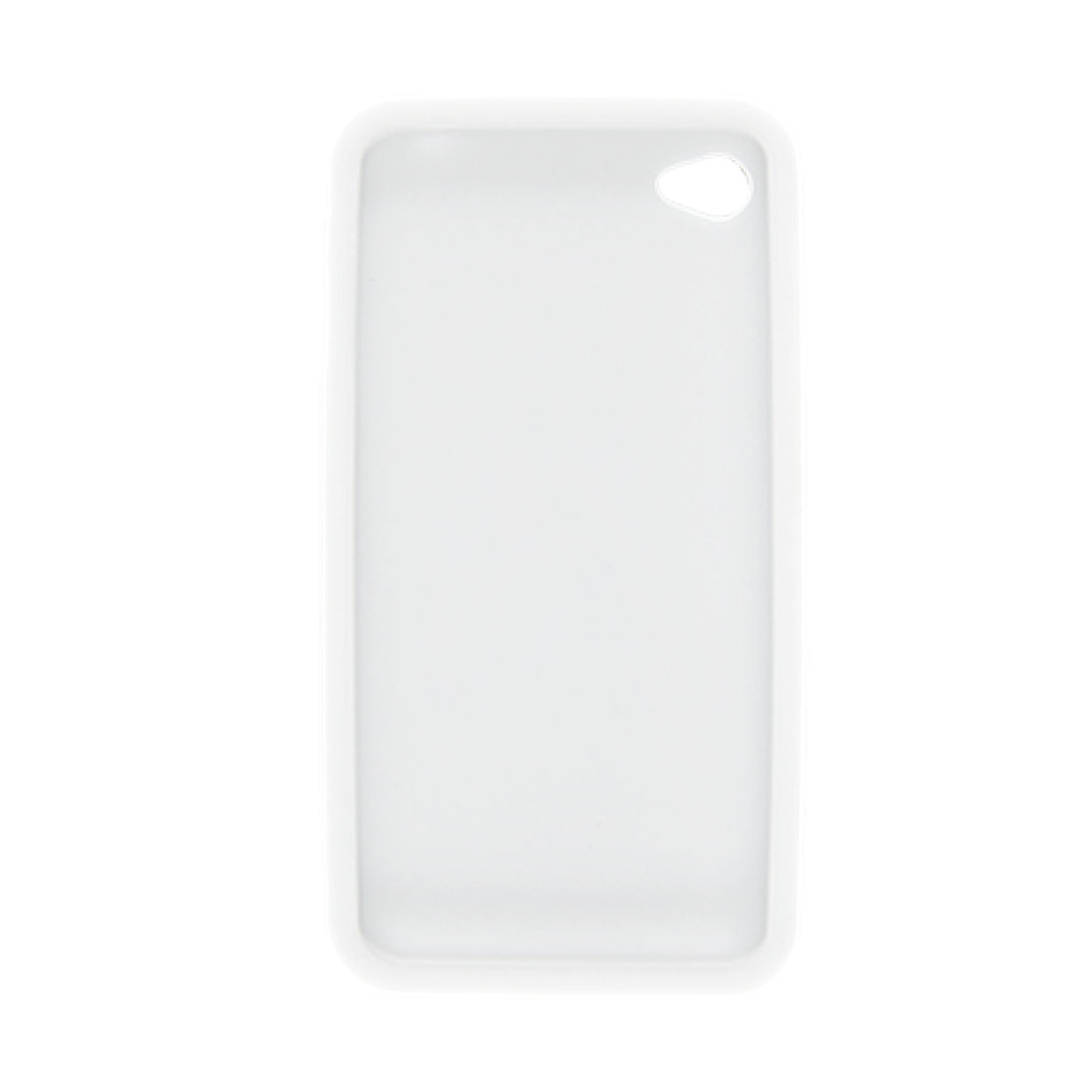 White Silicone Back Case + Screen Guard for Apple iPhone 4 4G