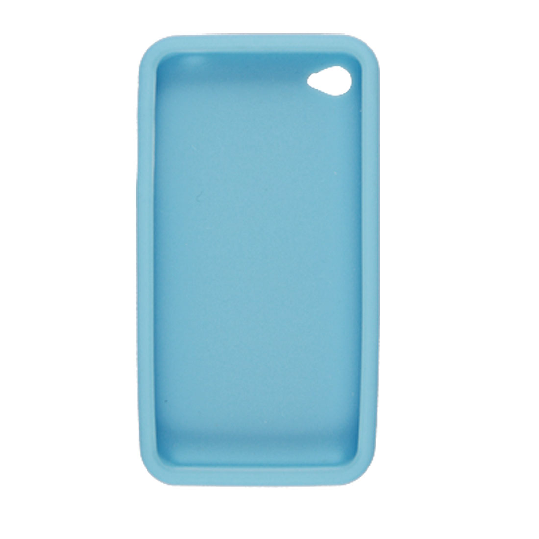 Sky Blue Silicone Skin Cover + Screen Guard for Apple iPhone 4