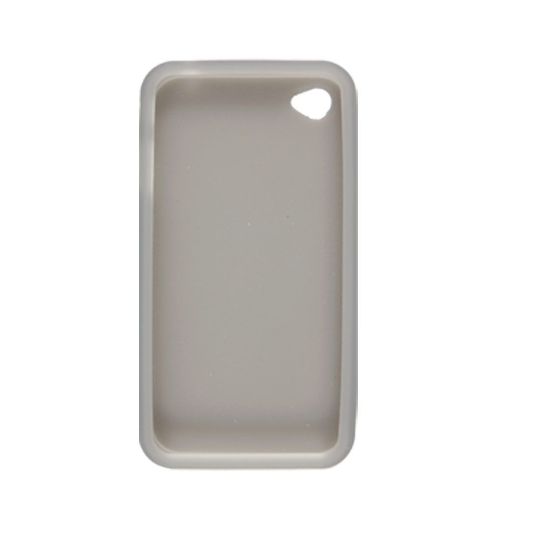 Gray Silicone Skin Case + Screen Guard for Apple iPhone 4 4G