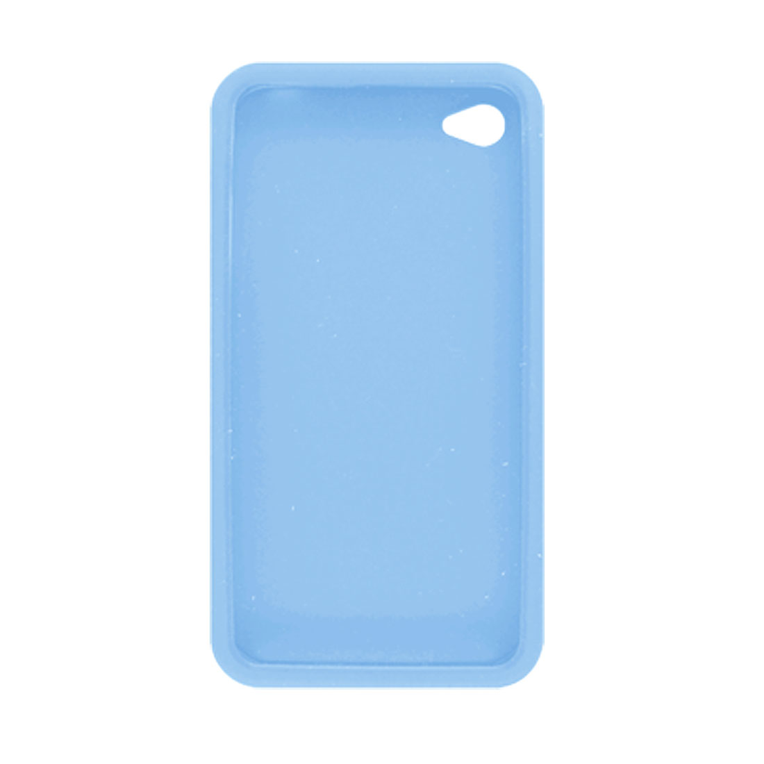 Blue Silicone Skin Case + Screen Guard for Apple iPhone 4 4G