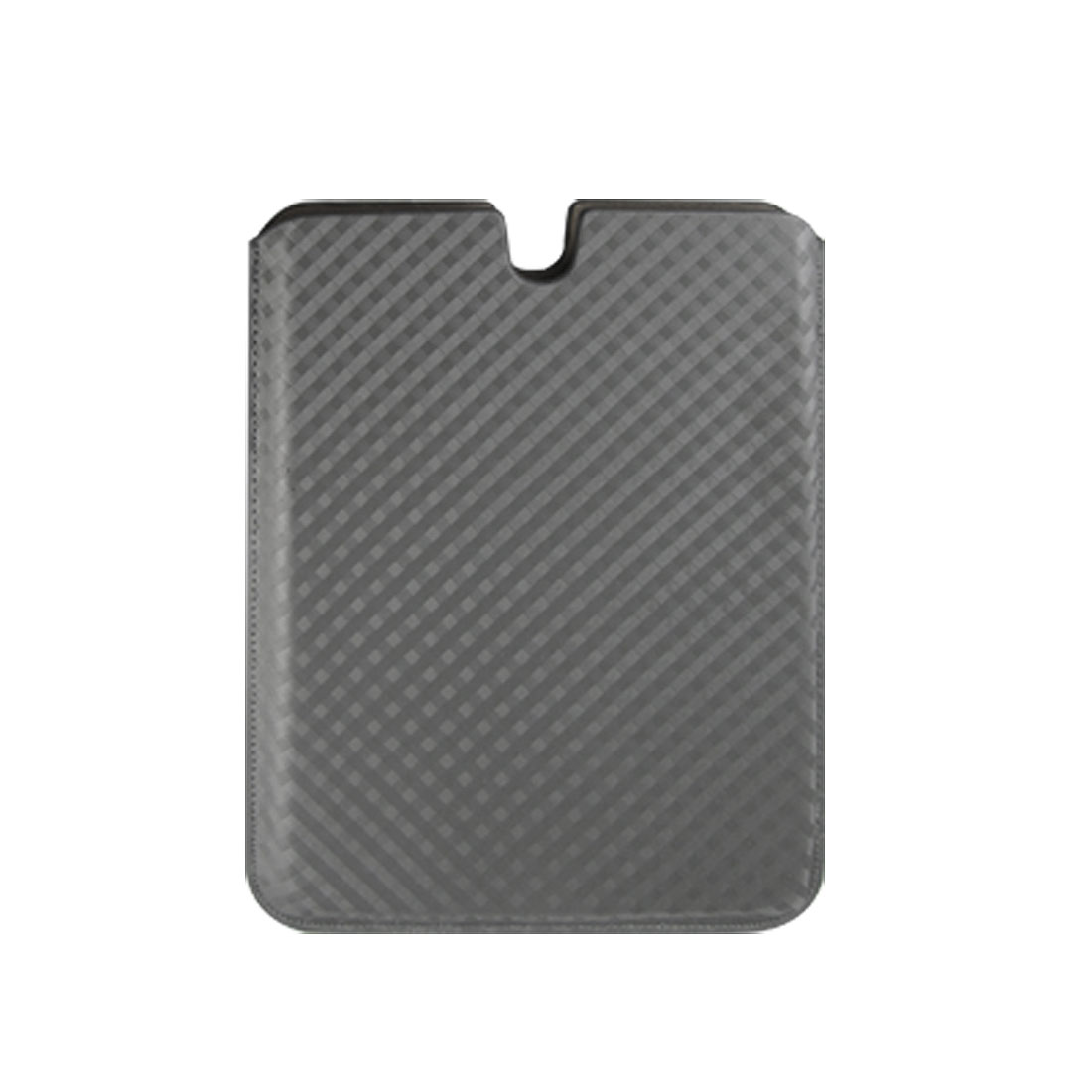Gray Verticle Faux Leather Case Sleeve for Apple iPad 1