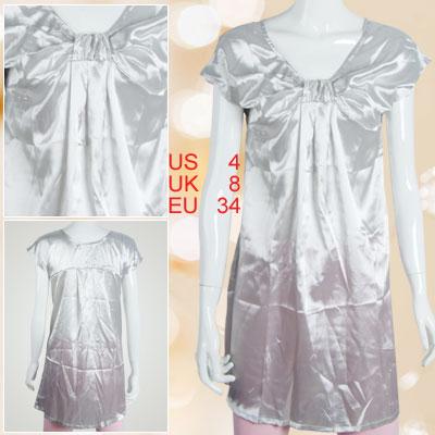Ladies Size S Gray Sleeveless Scoop Neck Mini Dress