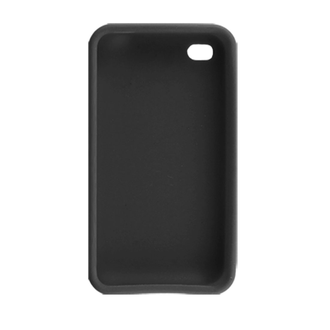 Black Silicone Skin Case Protector for Apple iPhone 4 4G