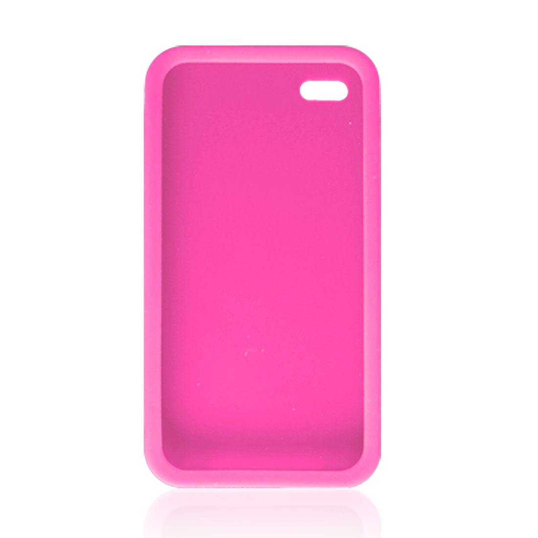 Amaranth Pink Silicone Skin Case for Apple iPhone 4 4G