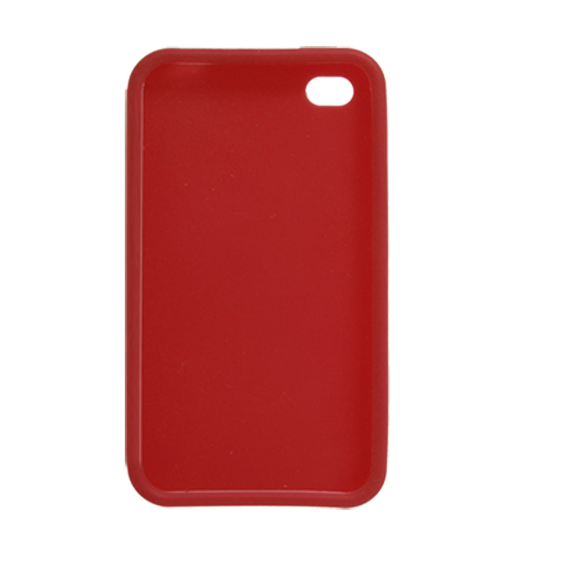 Red Soft Silicone Case Cover Shield for Apple iPhone 4 4G