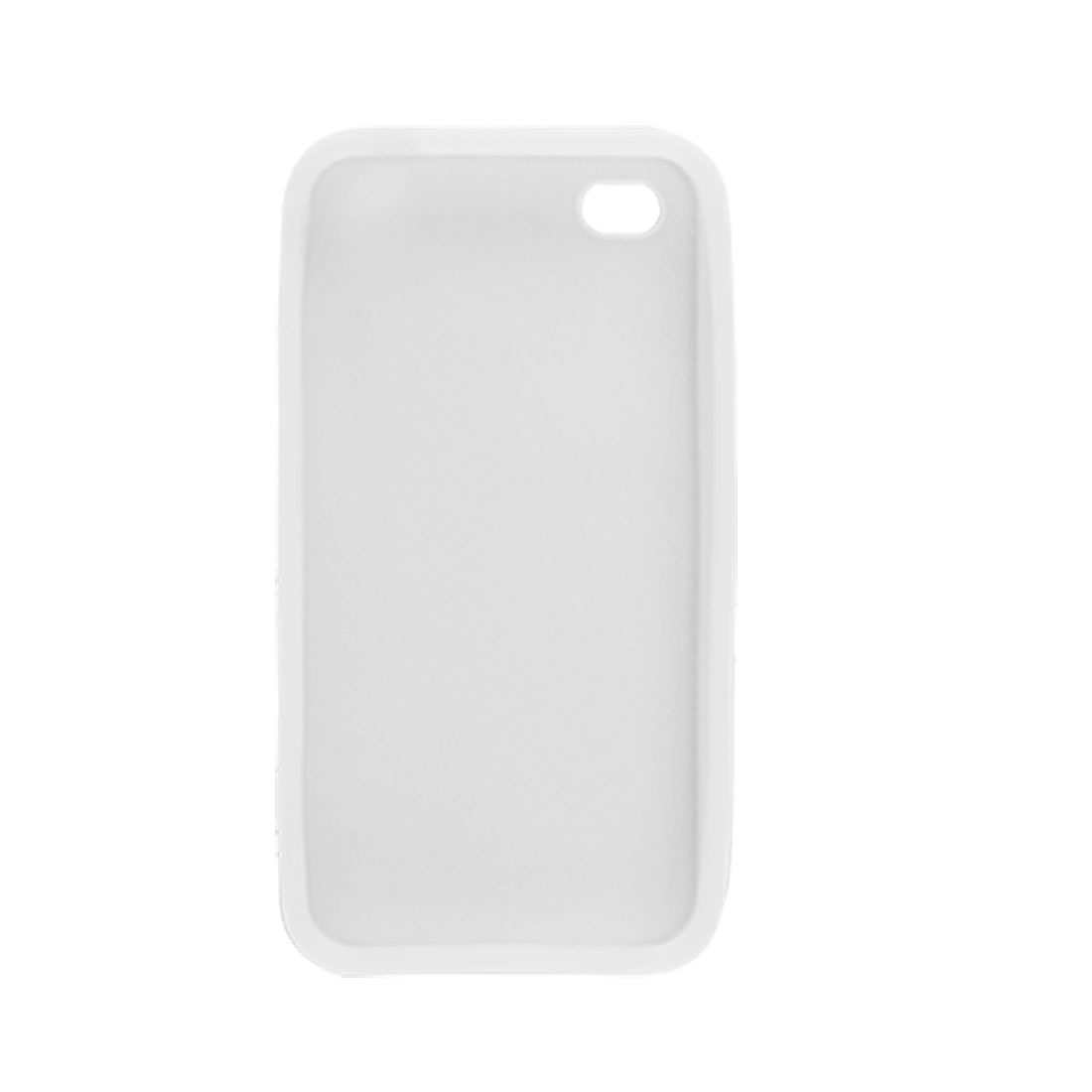 White Protective Silicone Skin Case for Apple iPhone 4 4G