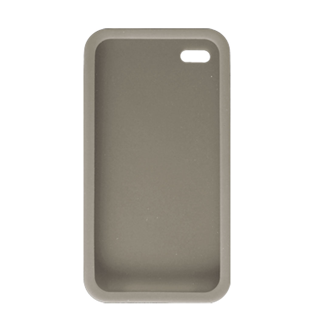 Gray Soft Silicone Skin Case Cover for Apple iPhone 4 4G