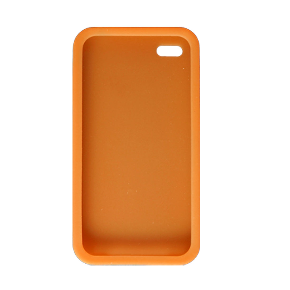 Orange Soft Silicone Skin Protector Case for Apple iPhone 4 4G