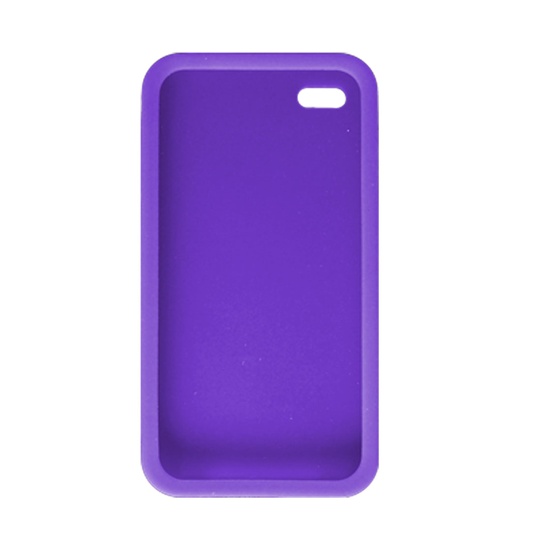Purple Soft Silicone Skin Protector Case Cover for iPhone 4 4G
