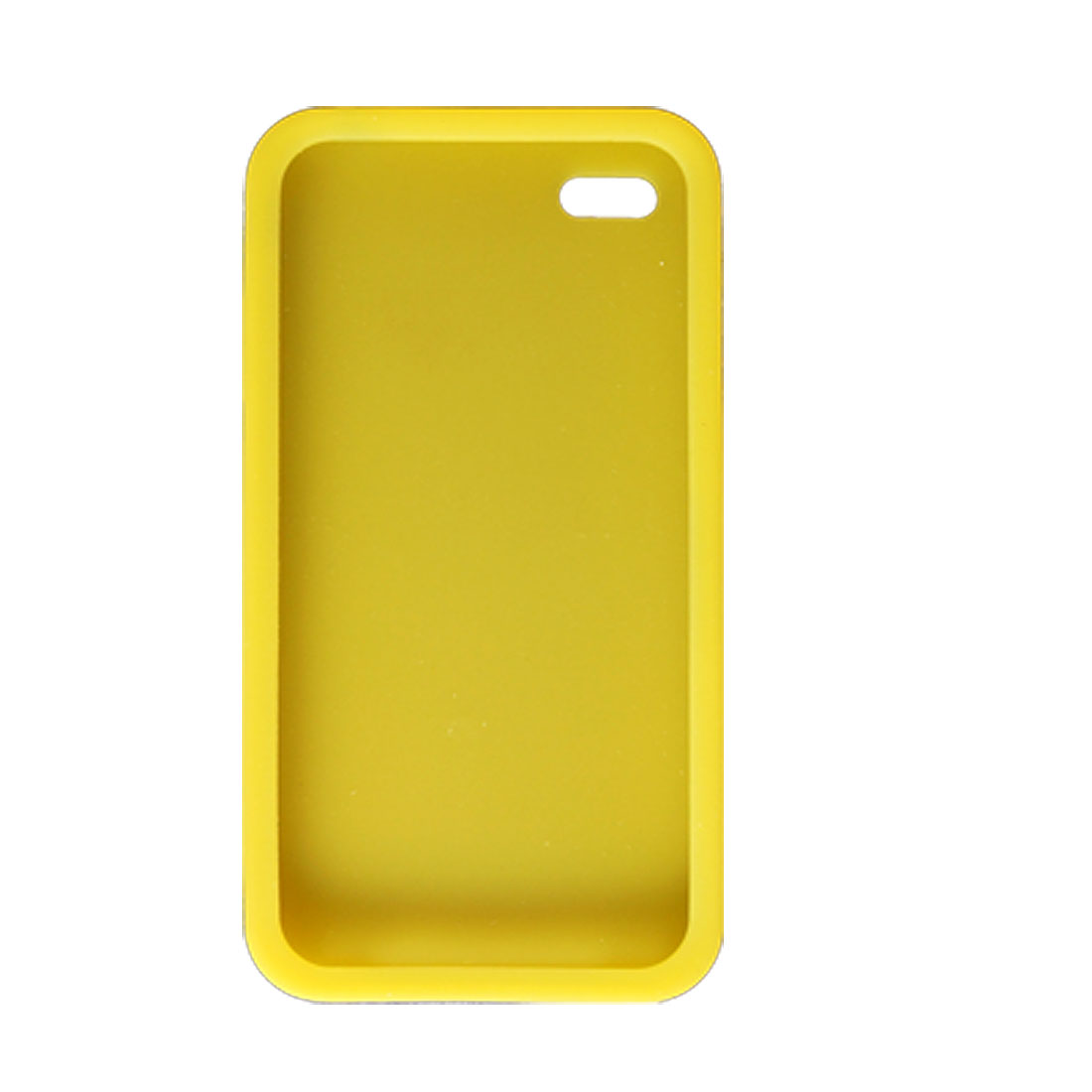 For Apple iPhone 4 4G Soft Silicone Skin Cover Case Shell Yellow