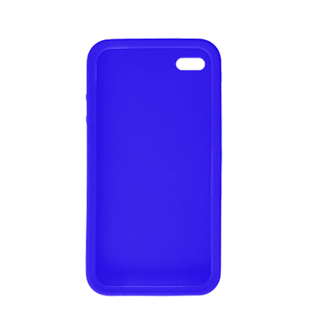 Blue Silicone Skin Soft Protector Case for Apple iPhone 4 4G