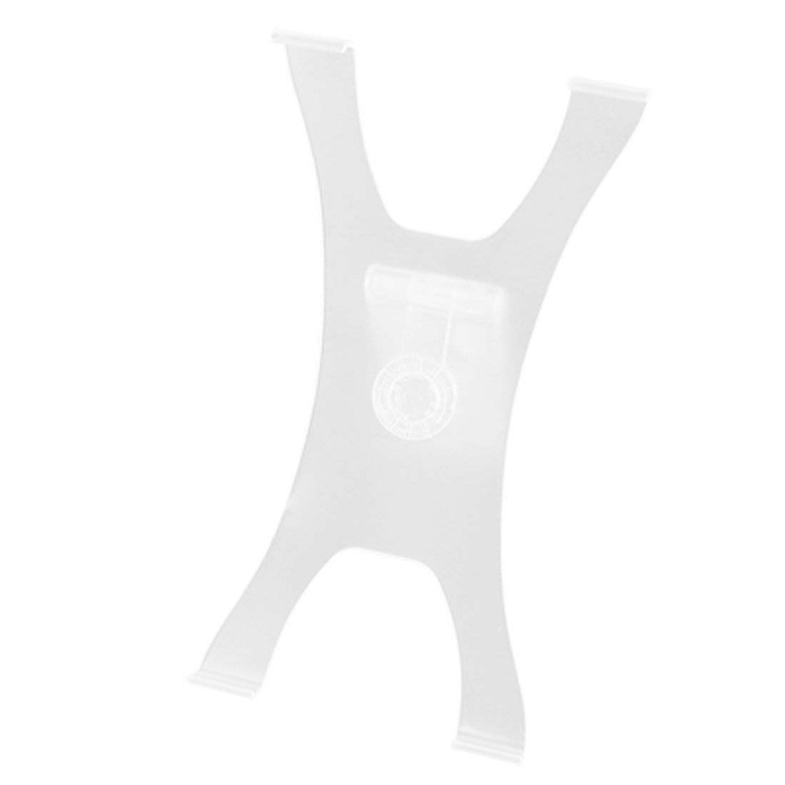 Hard Plastic Stand Holder Clear White for Notebook