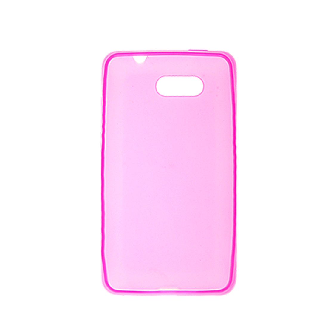 Clear Hot Pink Soft Plastic Cover Case for HTC HD Mini
