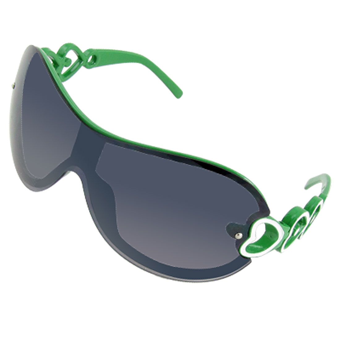 Black Lens Green Rim Frame Children Kids Sports Sunglasses