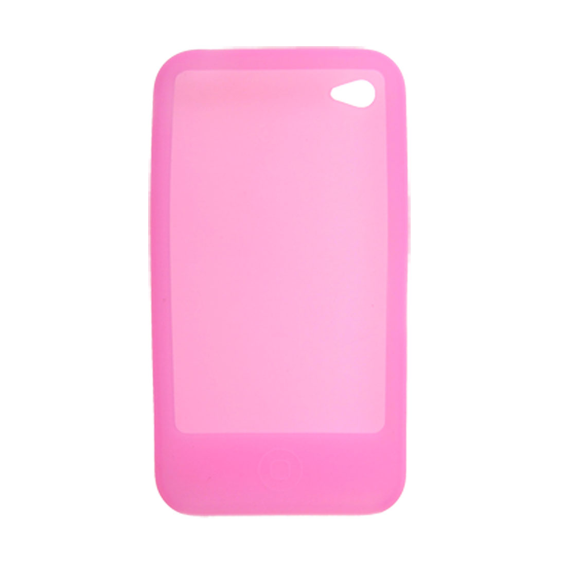 Silicone Skin Protective Case for iPhone 4 4G Pink