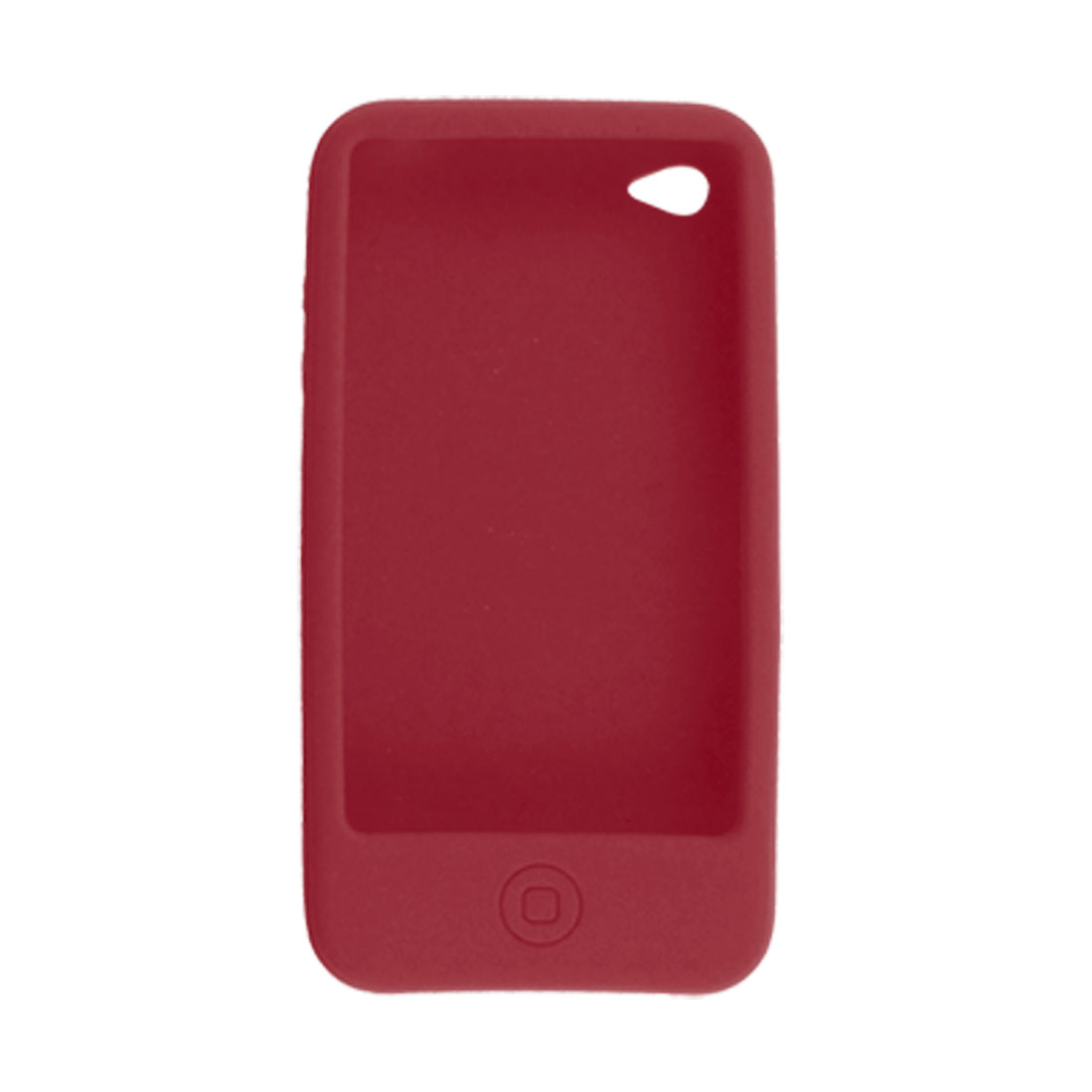 Red Silicone Skin Back Case for iPhone 4 4G