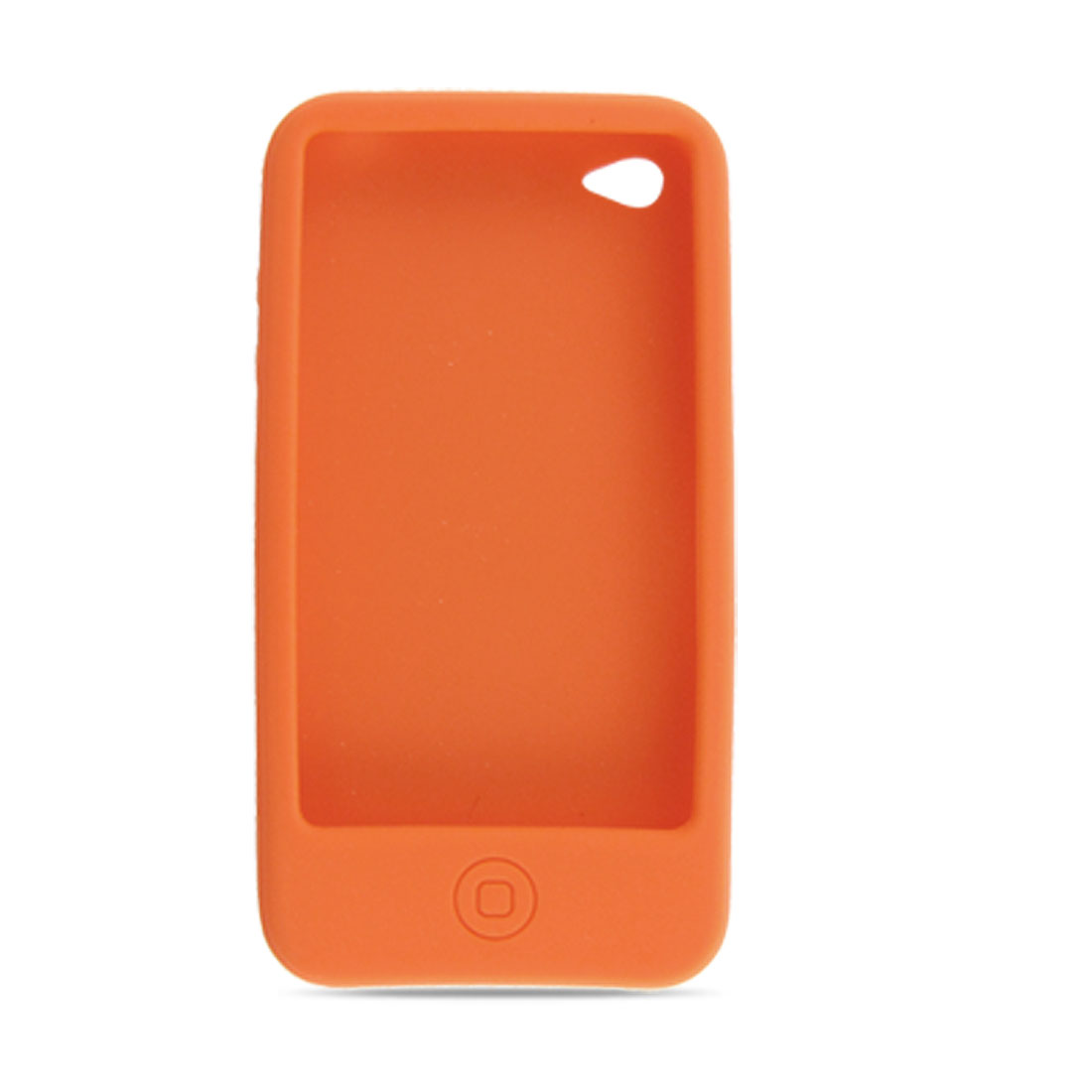 Silicone Skin Case Cover for iPhone 4 4G Orange