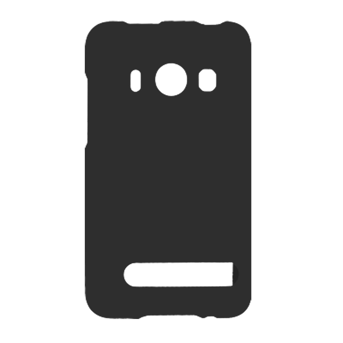 Black Rubberized Plastic Back Cover for HTC EVO 4G