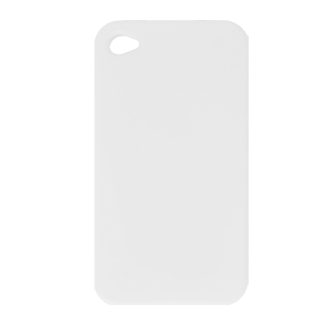 Clear White Silicone Skin Cover Case for Apple iPhone 4 4G
