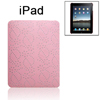 Pink Glitter Faux Leather Coated Back Case for Apple iPad 1