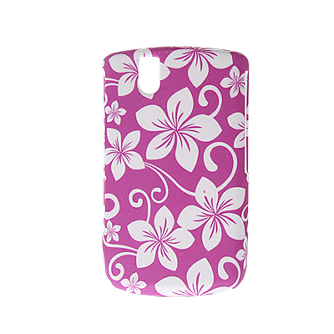 Amaranth Pink Rubberized Floral Back Case for Blackberry 9630
