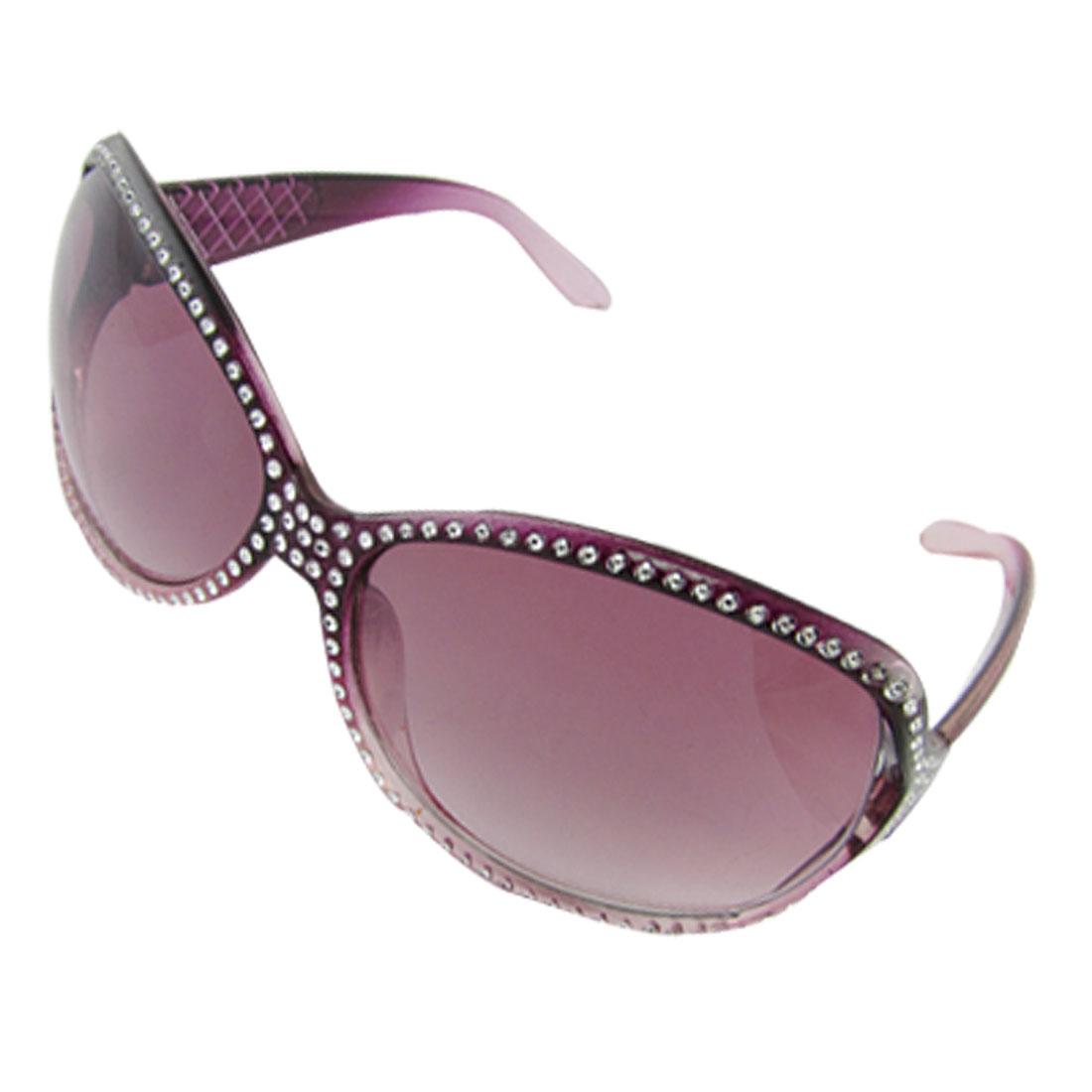 Purple Plastic Full Rim Fashion Sunglasses for Ladies