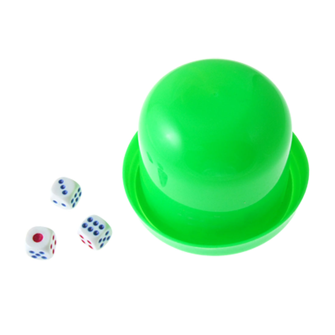 Plastic KTV Casual Green Dice Shaker Cup with 3 Dices
