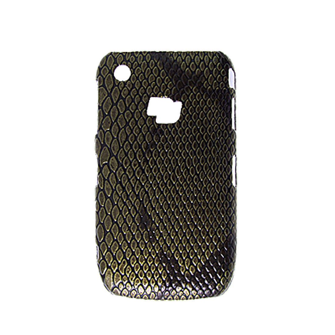 Snake Print Hard Plastic Bronze Color Back Case Cover for Blackberry 8520
