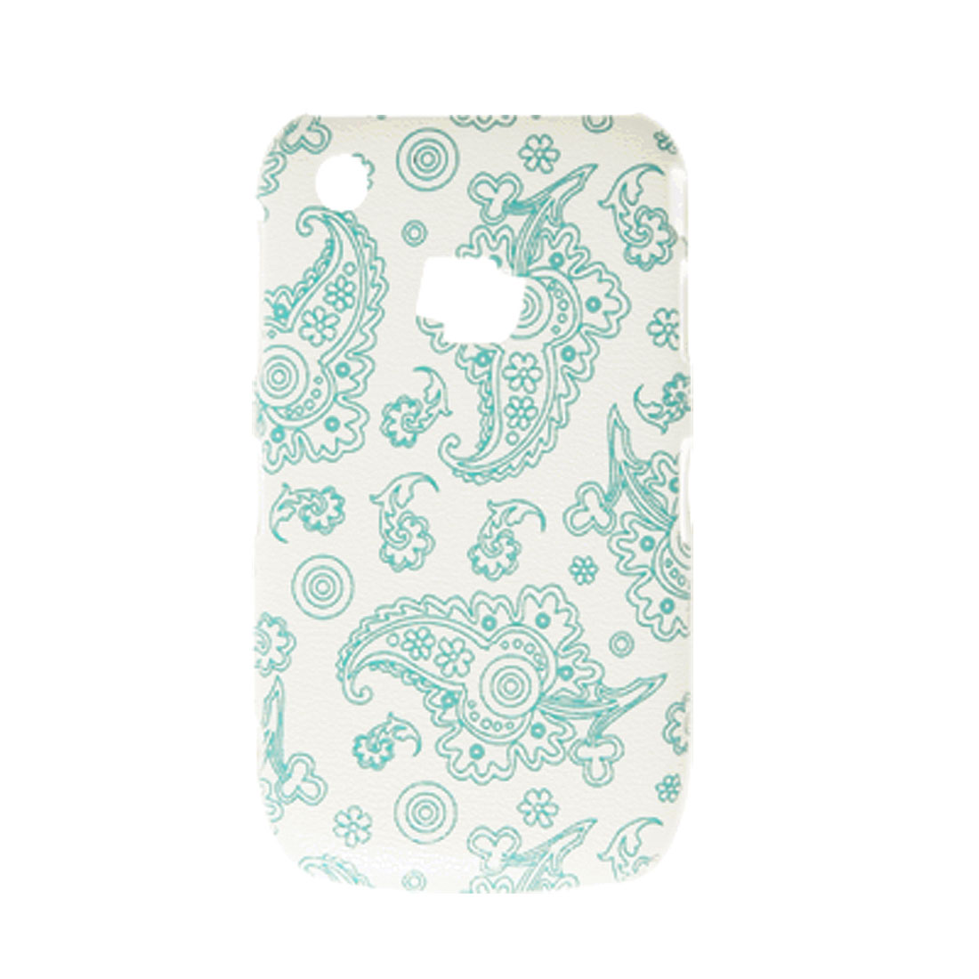Baby Blue Hard Plastic Special Pattern Back Case for Blackberry 8520