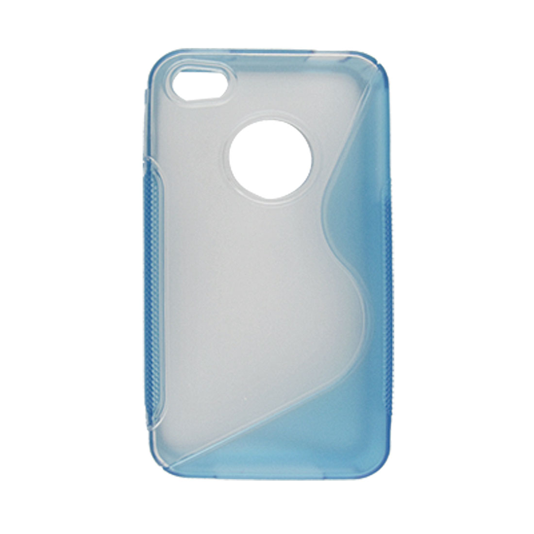 For iPhone 4 4G Skyblue and Clear Plastic Case Anti-glare
