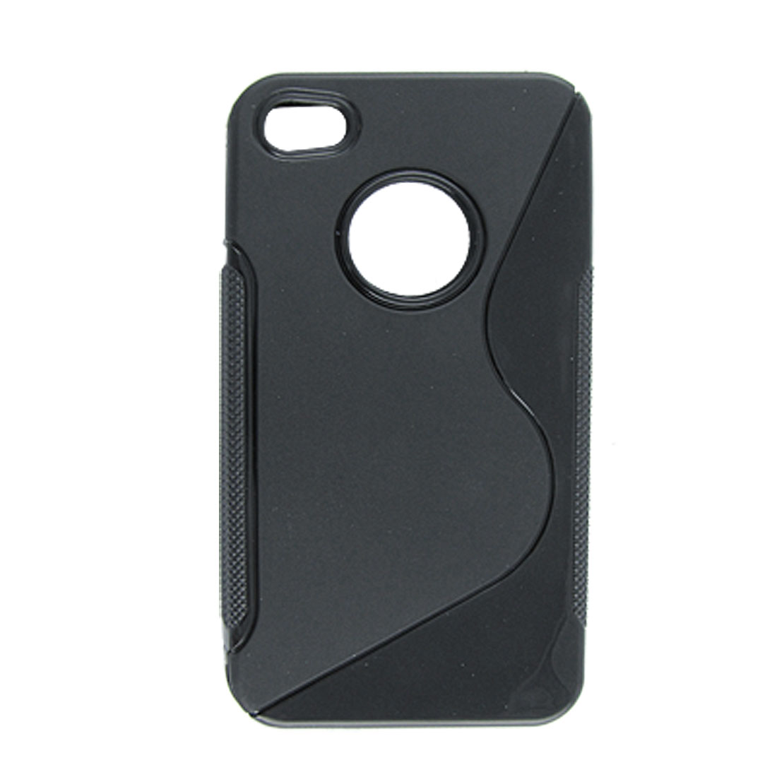 Black Anti-glare Soft Plastic Case for Apple iPhone 4 4G