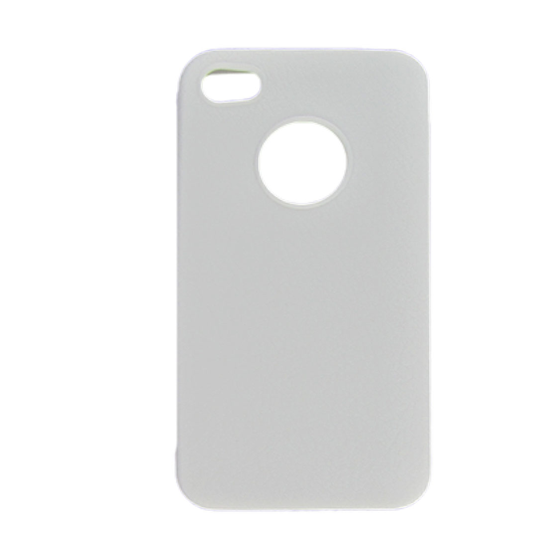 For iPhone 4 4G Soft Plastic Case Textured External White