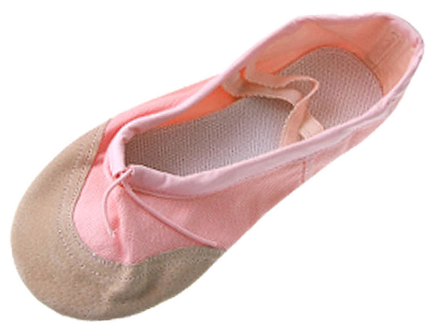 US Size 13 Girls Pink Canvas Dancing Ballet Flat Shoes