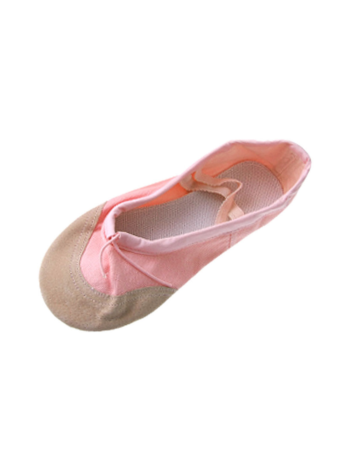 Ladies Pink Soft Canvas Elastic Band Ballet Dancing Shoes US Size 8
