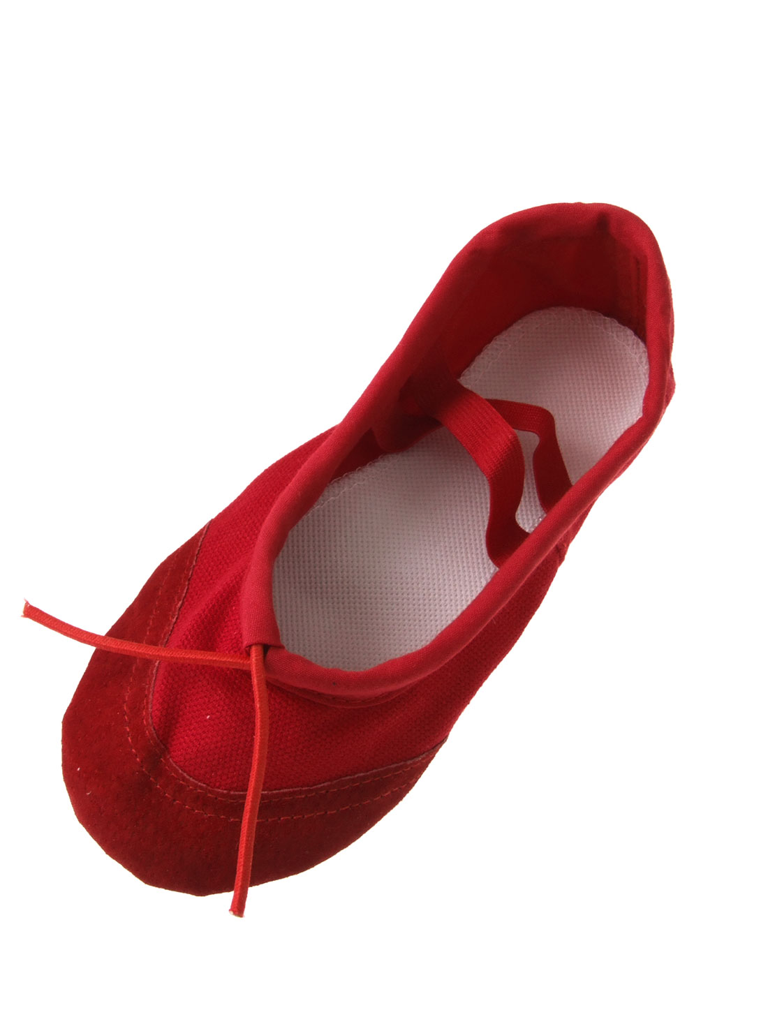 Girls Dance Dancing Ballet Soft Canvas Flat Shoes Red US Size 10