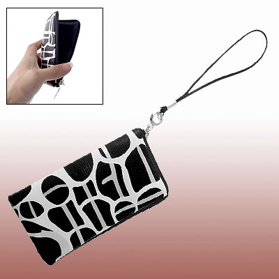 Phone Giraffe Style Faux Leather Zipper Purse Case Bag