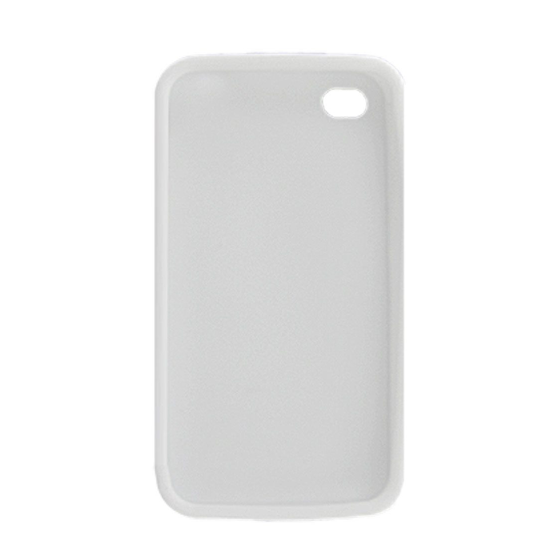 Clear White Silicone Skin Shield Case for Apple iPhone 4 4G