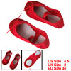 Ladies Red Elastic Band Canvas Dancing Ballet Shoes US Size 4.5