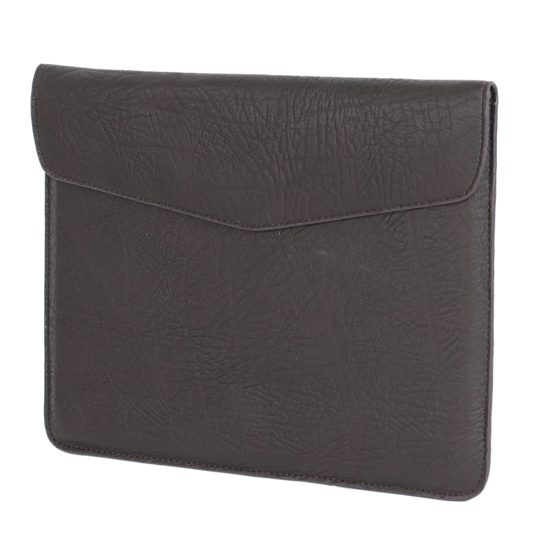 Dark Brown Faux Leather Briefcase Style Case for iPad 1