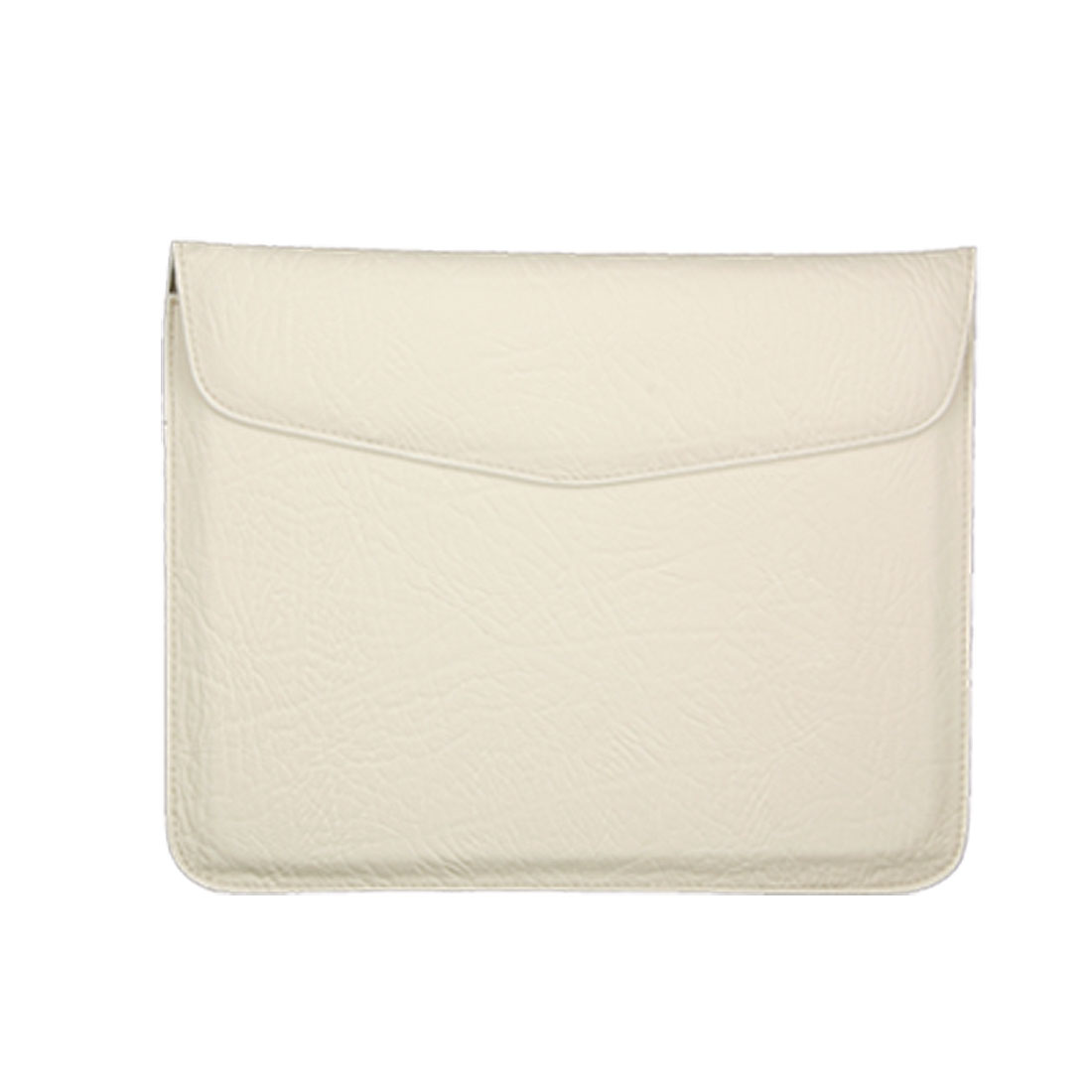 Faux Leather Briefcase Style Bag for iPad 1 White