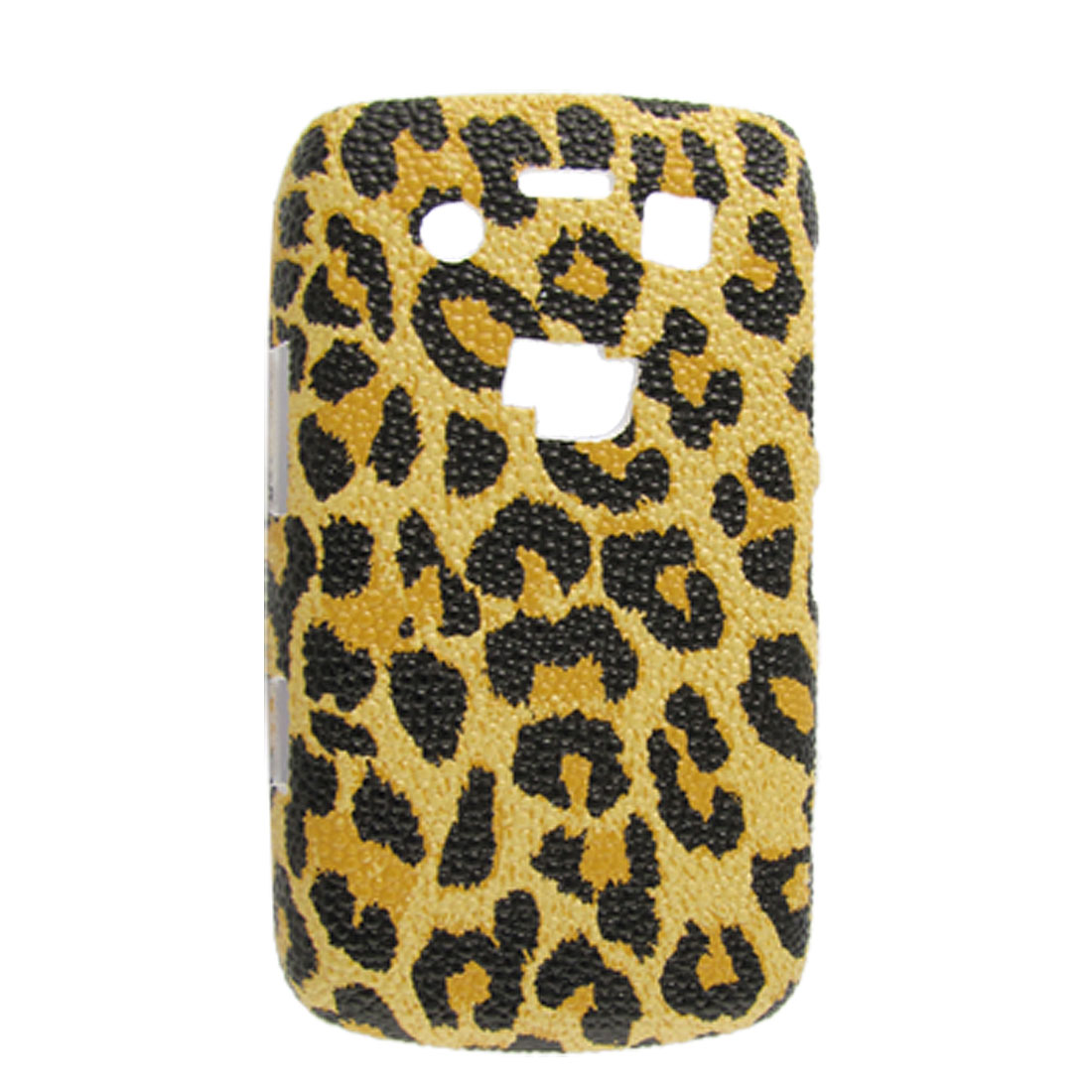 Leopard Print Orange Hard Plastic Back Case Cover for Blackberry 9700