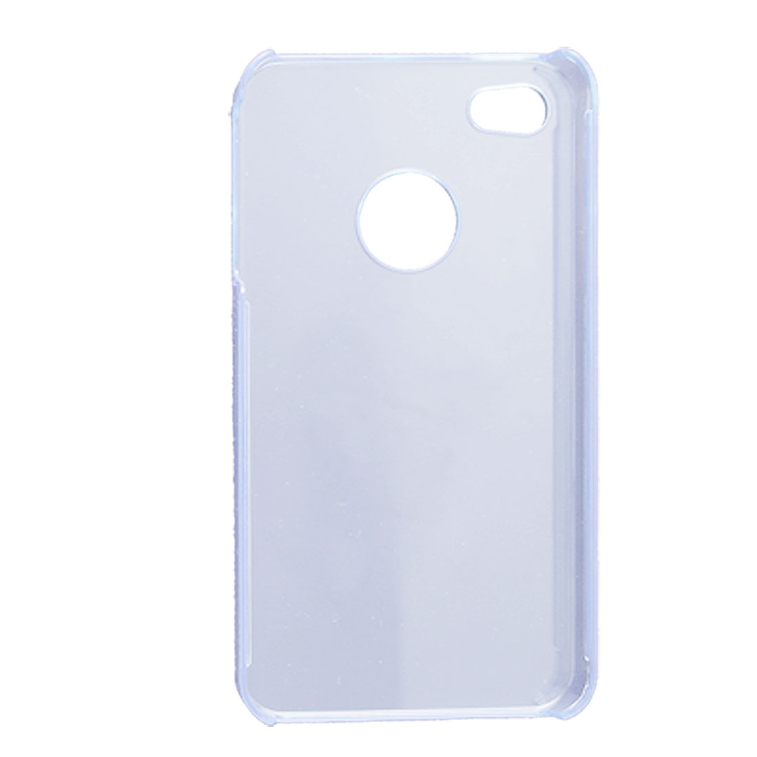 Protective Clear Blue Plastic Case for Apple iPhone 4 4G