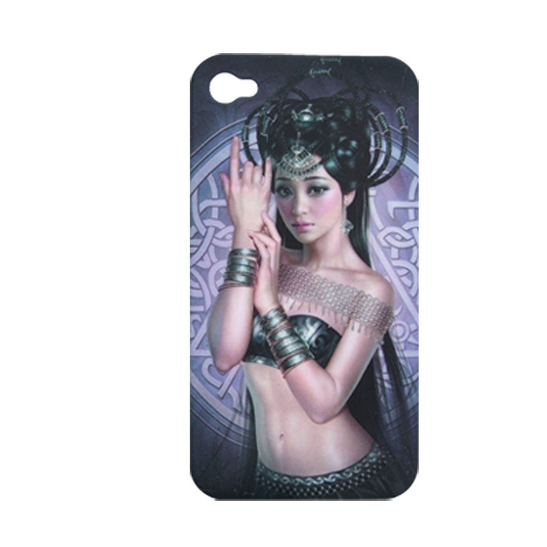Classical Beauty Pattern Hard Plastic Case for iPhone 4 4G