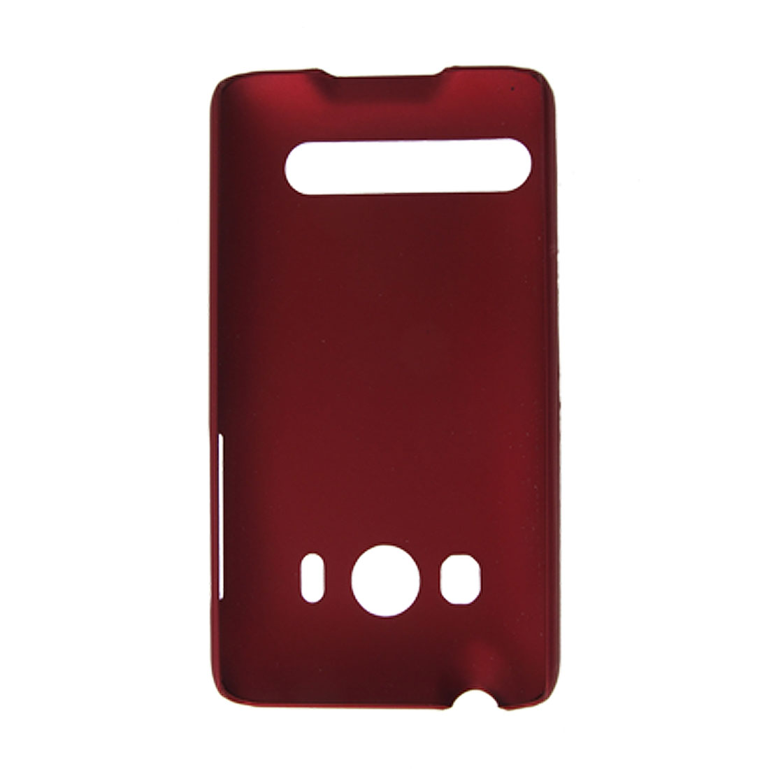 Dark Red Rubberized Hard Plastic Case Back Shell for HTC EVO 4G