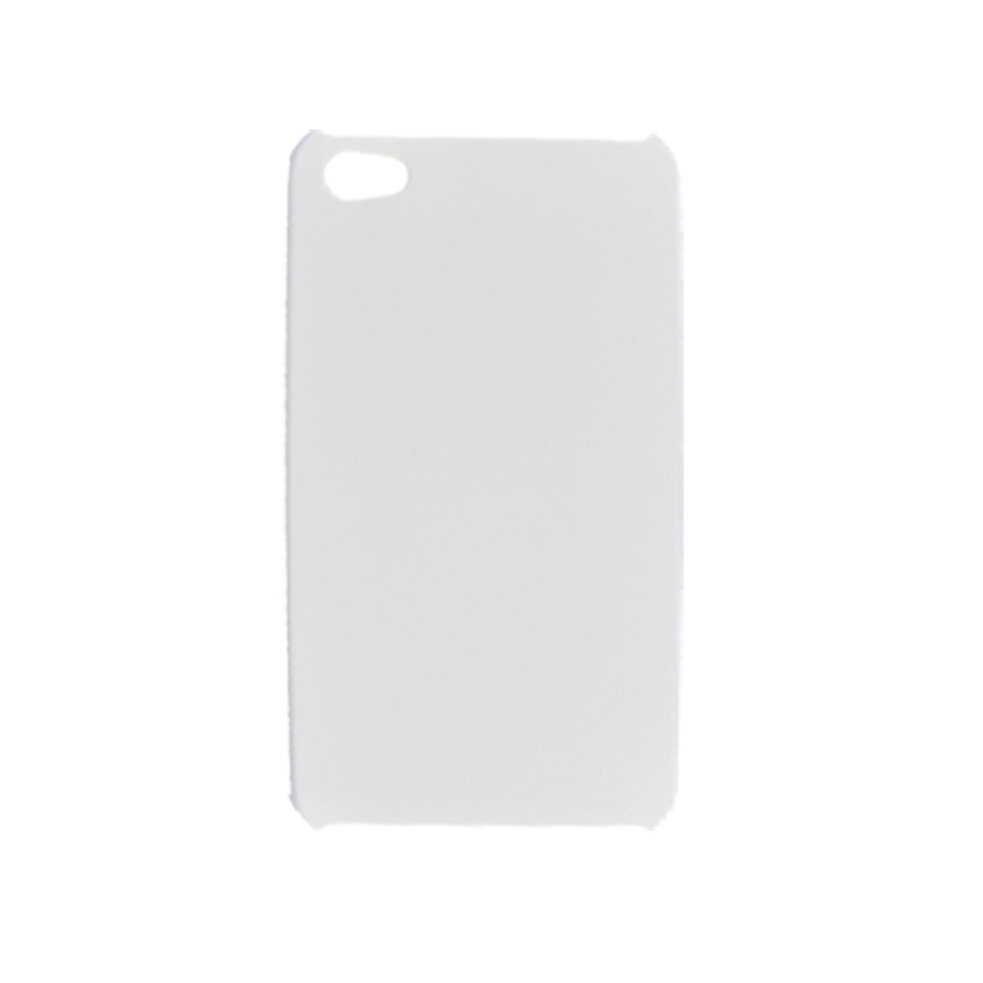 White Rubberized Hard Plastic Back Case for iPhone 4 4G
