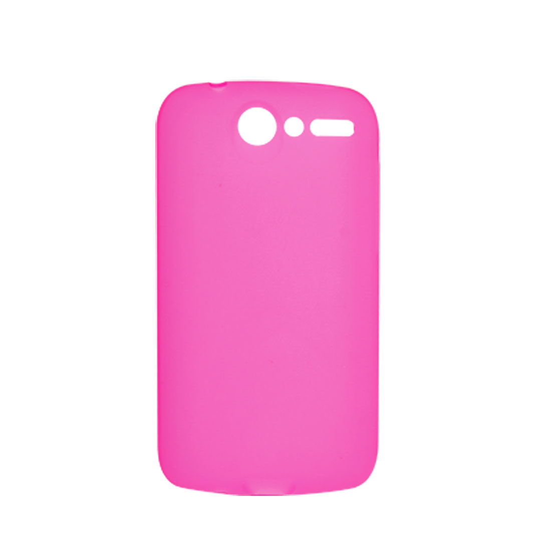 Clear Fuchsia Soft Plastic Case Shell for HTC Desire G7