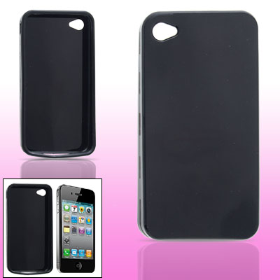 Black Soft Plastic Case Shell for Apple iPhone 4 4G