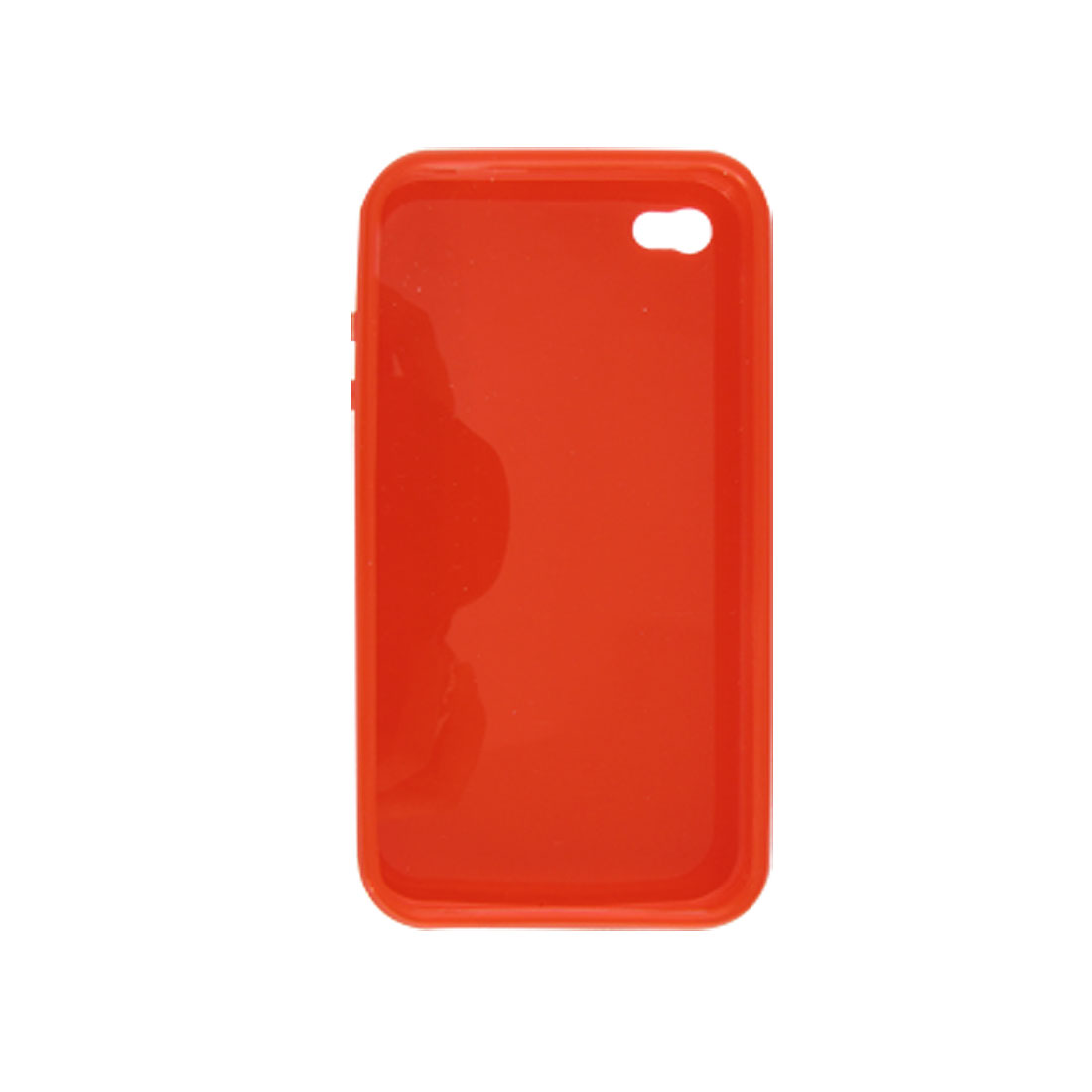 Red Soft Plastic Clear Case Smooth Shell for Apple iPhone 4 4G