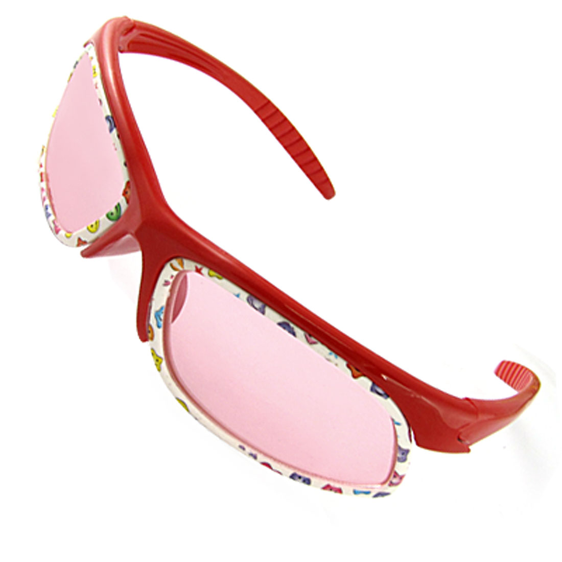 Cartoon Print Plastic Frame Sunglasses Red for Children