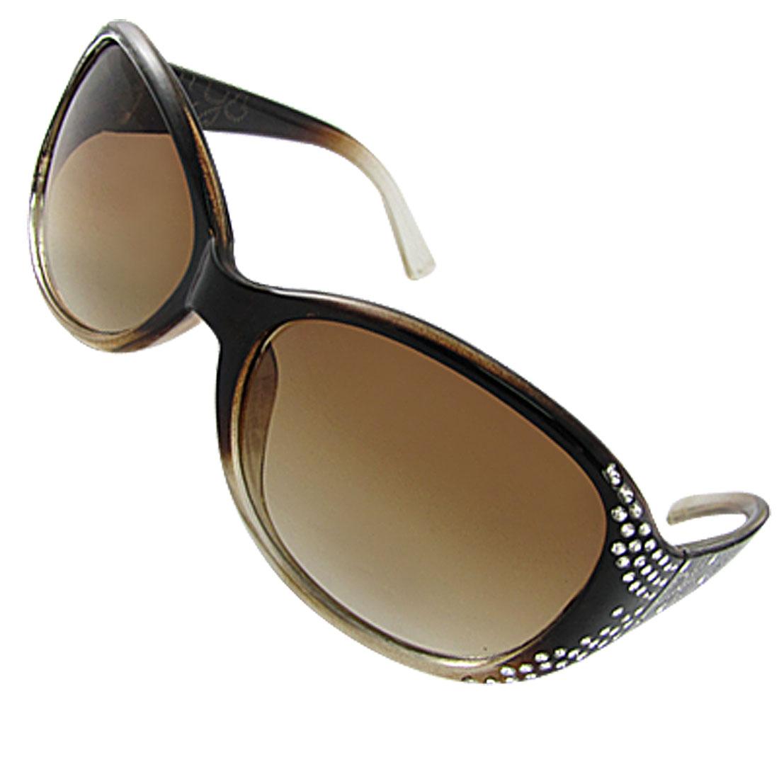Women Rhinestone Sunglasses Plastic Full Rim Eyewear